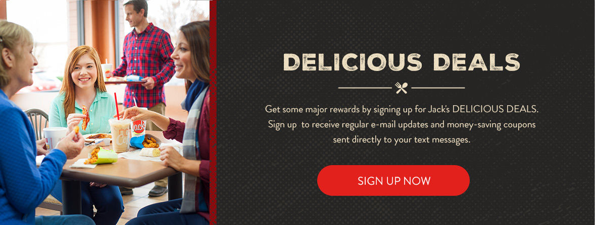 Sign up for Jack's Delicious Deals