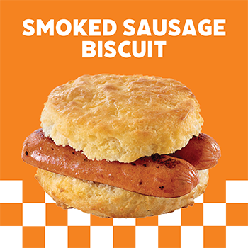 GAME DAY SMOKED SAUSAGE BISCUIT